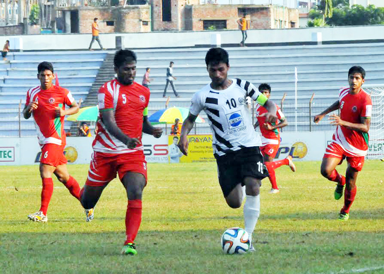 Muktijoddha take solo lead after playing 2-2 with Mohammedan