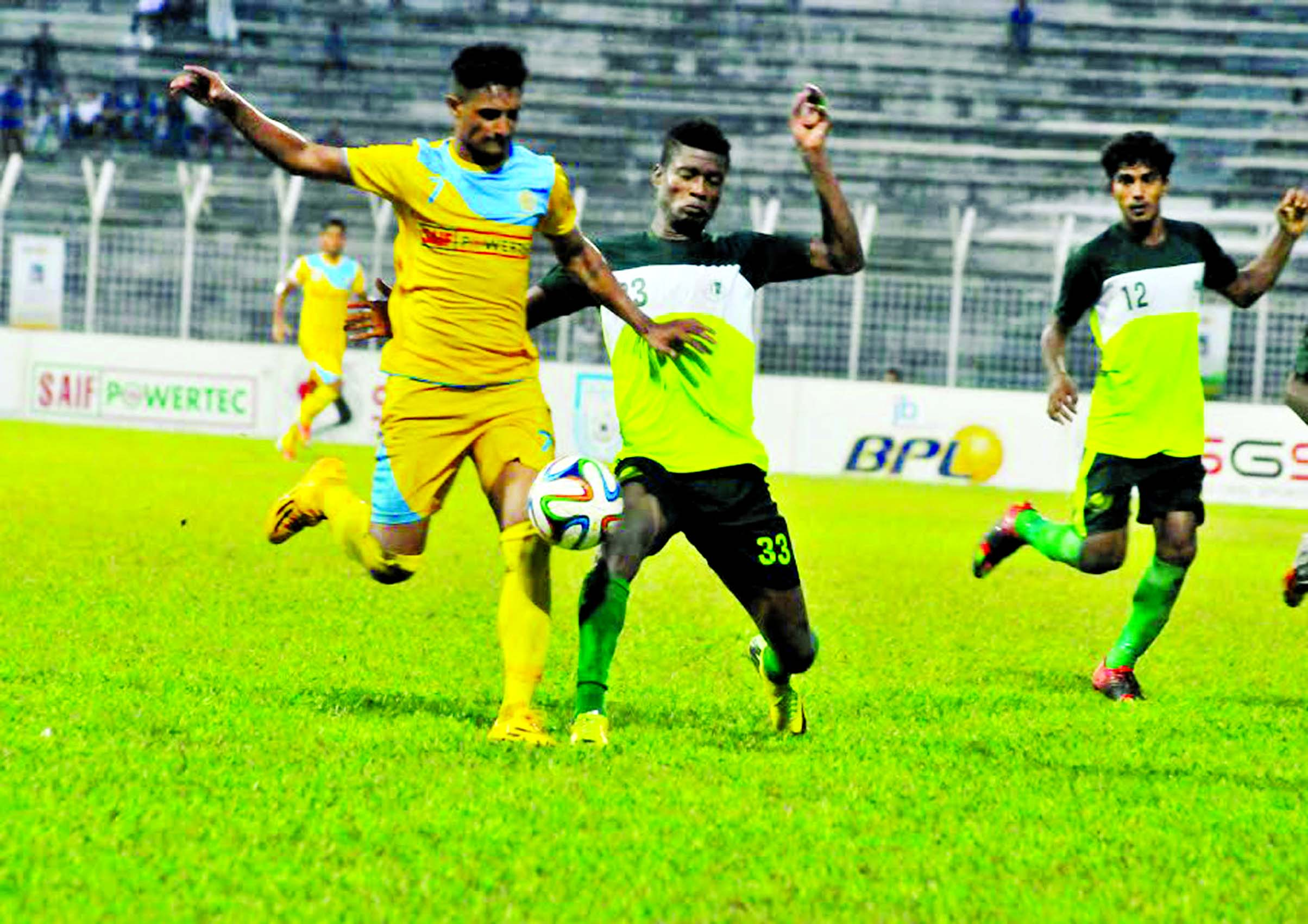 Ctg Abahani advance to 3rd slot beating BJMC 3-1